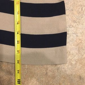 J. Crew Tops - J. Crew navy and cream striped top. Size 12